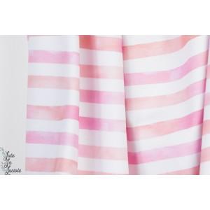 Sweat Bio Aquarelringel Pink Lillestoff