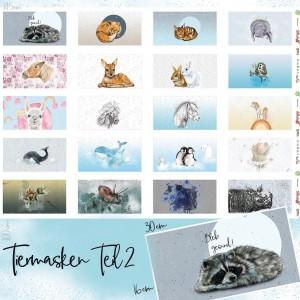 Popeline Bio Tiermasken teil2 Lillestoff animaux enfant masque