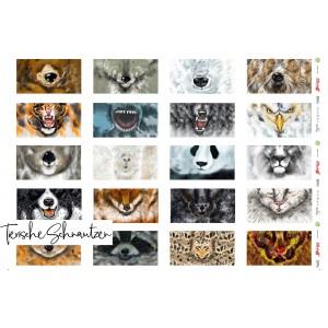 Panneau Masque Tierische Lillestoff masque animaux sauvage