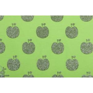jersey popy Apple glitter vert pomme graphique vintage
