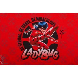 Panneau Jersey Lady Bug miraculous fille rouge