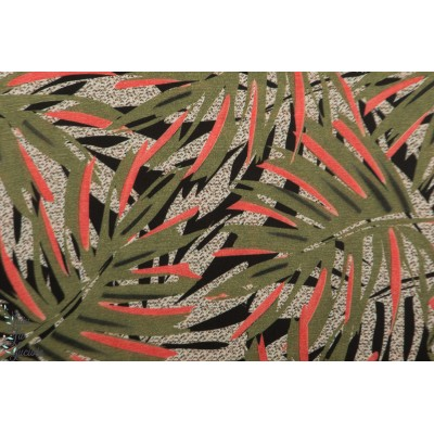 Viscose Plant Atelier Jupe plante jungle vegetal mode femme feuille