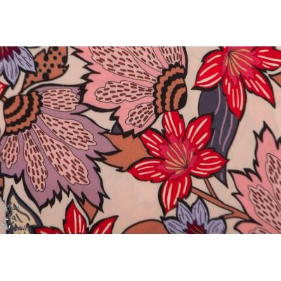 Viscose Soft Pink Flower Atelier Jupe fleur rose mode femme