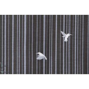 tissu femme jersey viscose Modal Picaflor Kombi strech oiseau rayure rétro mode lillestoff