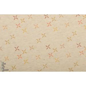 jersey bio Starry Sky beige chiné étoile lillestoff graphique