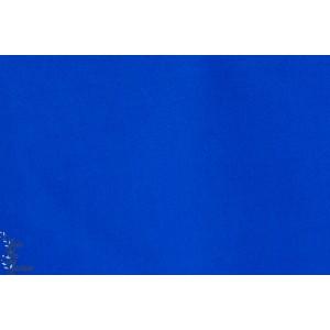 tissu coton Popeline Unie Bleue Cobalt