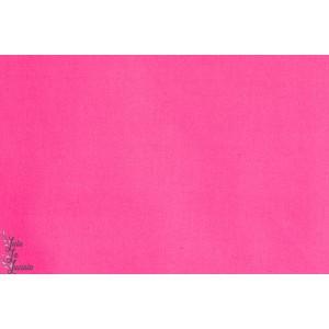 tissu coton Popeline Unie Fushia rose