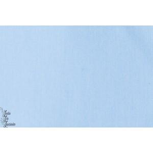 tissu coton Popeline Unie Bleu clair