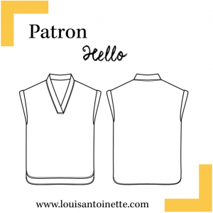 Patron blouse Hello