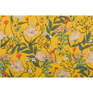Vscose SYAS Summer Flowers fleur ete jaune rayon see you six soft cactus