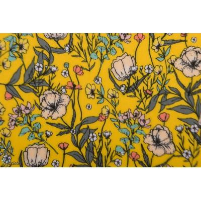Summer Flower Lycra SYAS maillot de bain swim jaune fleur see you at six