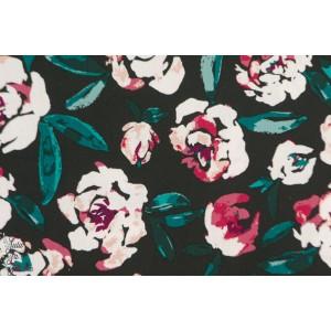 Rayon Fusion Foresta AGF art gallery fleur mode femme viscose rose vert