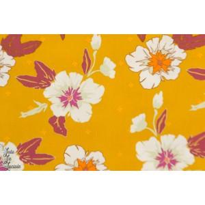 Popeline AGF Autumn Nectar Honey fleur jaune