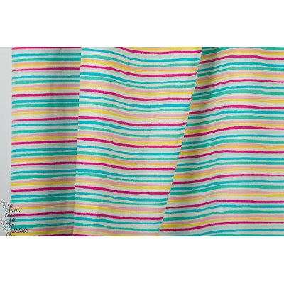 Popeline AGF Sunlit Stripes rayure couleur hello sunshine