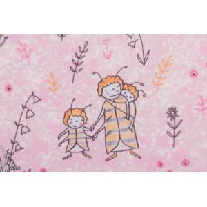 Jersey Bio Susalabims Bienchen Rosa Lillestoff famille coccinelle layette enfant petit rose fille