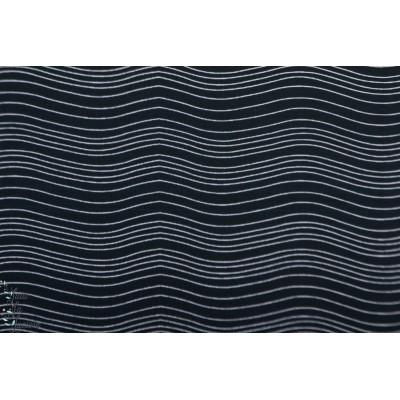 Jersey Bio Wave sgraphique bleu vague rayure