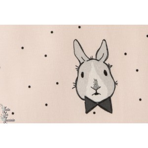 Jersey Bio Bunny Bow coton couture enfant lapin géométrique mode bébé