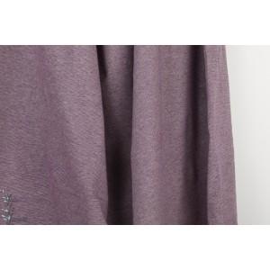 Jersey jacquard Bio Alb Summer Melange Viola / meringa