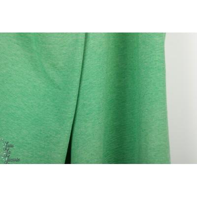 jersey jacquard Bio Alb Summer melange verde erba / meringua
