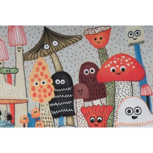 Double bordure Mushroombuddies The Mushroom Fanclub par Elise Gravel