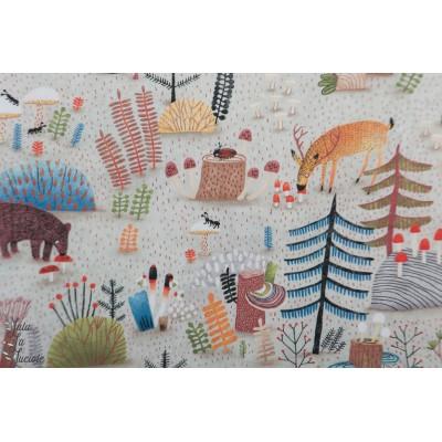 Popeline Forest Habitat Michael Miller - The Mushroom Fanclub par Elise Gravel