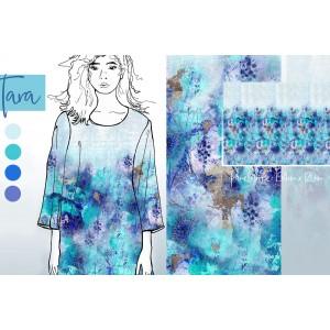 panneau jersey bio TARA Lillestoff mode femme bleu
