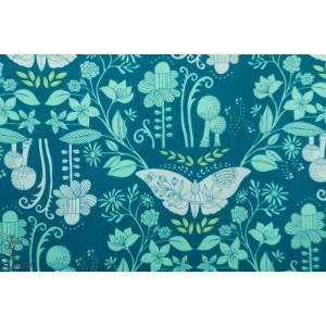 Popeline Michael miller Delight by Tamara katepapillon fleur bleu vert