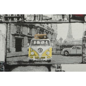 Jacquard Double Face VW Loves Paris canvas toile