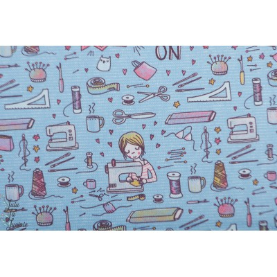 Canvas Bio Sew On Lillestoff toile accessoire susalabim couture