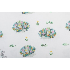 Popeline Porcupines Dear Stella hérissons en fleurs!