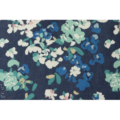 Jean DENIN PRINT AGF fleur printemps denin bleu art gallery
