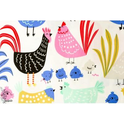Popeline Cluck Cluck Poulailler alexander henry poule poussin enfant couleur