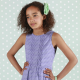 popeline, coton bio, Soft Cactus Little Wings - M - Violet - R