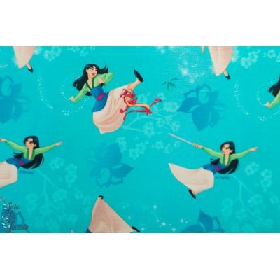 Jersey Mulan fond turquoise princesse disney licence