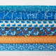 popeline coton bio Soft Cactus Rabbit Race Bleu