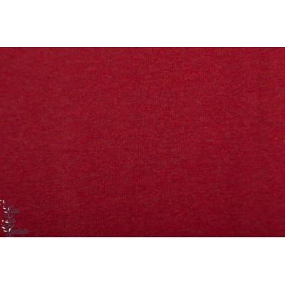 Jersey Uni chiné Burgundy Rouge