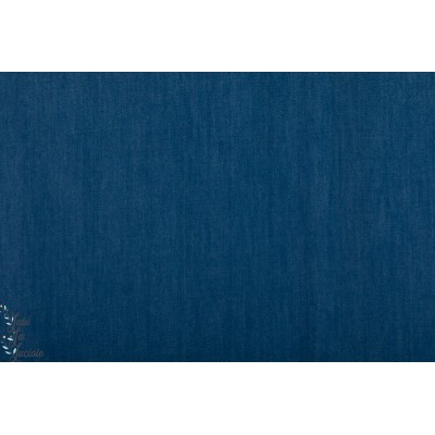 Jeansoptik denin jeanblau dunkel Lillestoff bio
