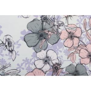 Jersey bio Vintage rose Lillestoff pastel fleur