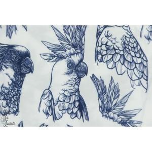 Viscose Oiseau triopical Blanc oiseau femme mode