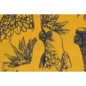 Viscose Oiseau Tropical Senf