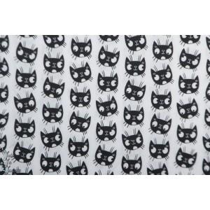 Popeline Eva Mouton Kitten Black and white chat masque animaux