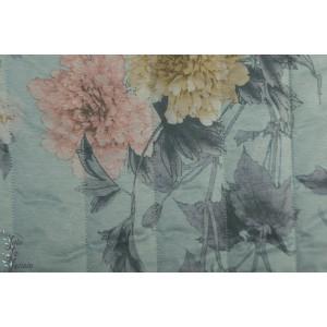 Imperméable Fleur- doudoune - matelassé bleu gris