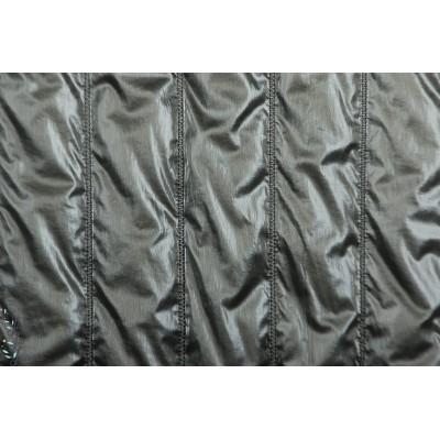 Impermable matelassé métal gris foncé - doudoune double face