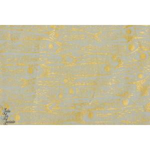 tissu coton métallique Popeline Poissons d'or cotton steel mode couture  femme