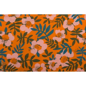 Rayon Nocturnal Cloud9 bio fleur viscose orange retro vintage