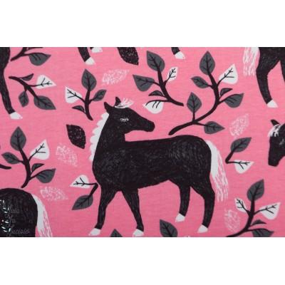 Sweat bio Paapii Poem Light Pink cheval rose fille