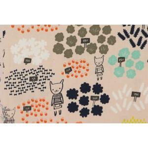 tissu coton Popeline Flowershop fleuriste marché mode enfant fille couture cotton steel