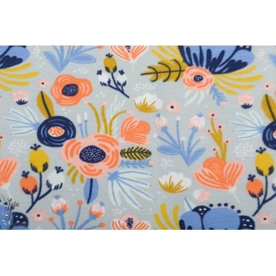 Jersey Gots flower bouquet bleu fleur jardin poppy