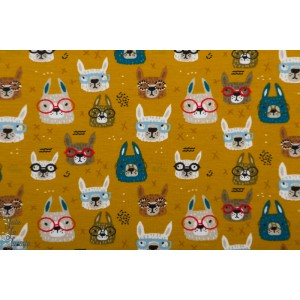jersey Poppy cool glasses ochre animaux lapin lunette enfant