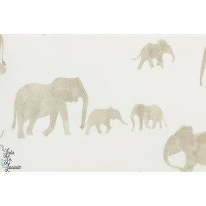 French terry Elephants Family Fabrics